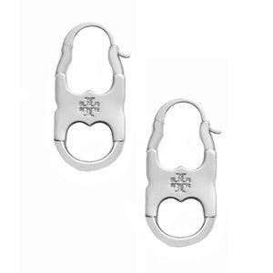 TORY BURCH • Silver Gemini Link Drop Earrings